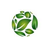 Rounding Leaf Icon Stock Image