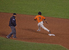 Rounding Second Base--San Francisco Giants Stock Image
