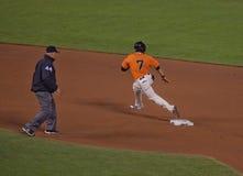 Rounding Second Base--San Francisco Giants Stock Image