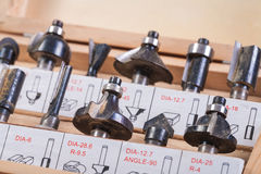 Roundover router bits for woodworking Stock Photos