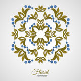RoundPattern-01. Watercolor floral decoration. Vector illustration. 10 EPS Royalty Free Stock Photo