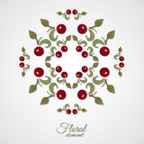RoundPattern-02. Watercolor floral decoration. Vector illustration. 10 EPS Stock Images