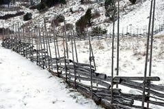 Roundpole fence Stock Photography