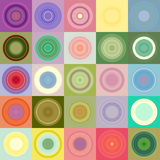 Rounds in blocks pattern Stock Photo