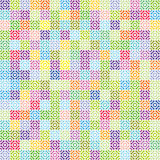 Rounds. Colorfull round square pattern contemporary design Stock Photo