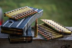 bullets & magazines Royalty Free Stock Photography