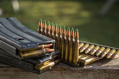 Bullets & magazines Royalty Free Stock Photo