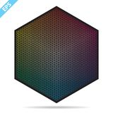 Vector color palette. 1261 different colors in small circles in a shape of hexagon. royalty free illustration