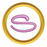 Roundworm vector icon Royalty Free Stock Image
