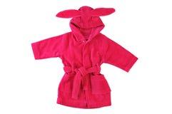 Roupão cor-de-rosa com orelhas de coelho Fotografia de Stock Royalty Free