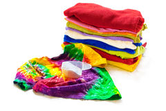 Roupa colorida de lavagem Fotos de Stock Royalty Free