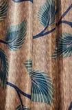 Roupa da cortina com a foto original das texturas foto de stock royalty free