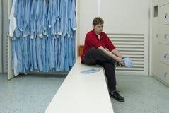 Roupa da sala de limpeza mim Imagens de Stock