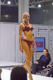 Roupa de banho vermelho Desire Lingrie Expo Fashion Show Imagens de Stock Royalty Free