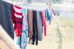 Roupa de secagem em Sun Imagens de Stock