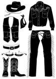 Roupa do cowboy. Vida ocidental ilustração royalty free