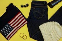 Roupa do inverno Grupo do women& bonito x27; roupa de s Foto de Stock