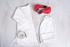 Roupa do karateka Fotos de Stock