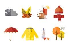 A roupa do outono ajustou o vinho ferventado com especiarias das peúgas do Parka do revestimento das luvas do lenço do chapéu do  Foto de Stock
