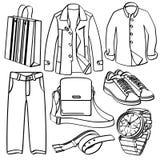 Roupa e acessórios ilustração royalty free