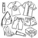 Roupa e acessórios ilustração stock