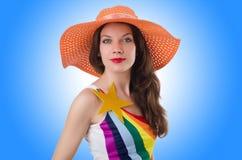 Roupa elegante vestindo modelo Imagens de Stock