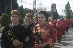 Roupa Java Carnival Celebration In Sukoharjo fotografia de stock royalty free