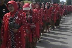 Roupa Java Carnival Celebration In Sukoharjo fotos de stock