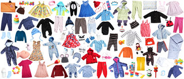 roupa para o fundo das crianças Fotografia de Stock