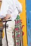 Roupa popular polonesa tradicional em Zakopane, Polônia Foto de Stock Royalty Free