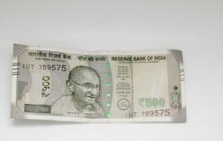 Roupies indiennes cinq cents photos stock