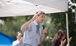 ` Rourke Democrata Texas Campaigns de Beto O para o Senado fotos de stock royalty free
