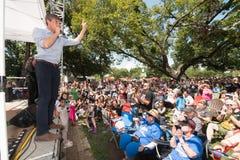 ` Rourke Democrata Texas Campaigns de Beto O para o Senado fotografia de stock royalty free