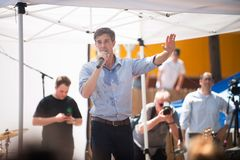 ` Rourke Democrata Texas Campaigns de Beto O para o Senado imagens de stock royalty free