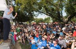 ` Rourke Democratico Texas Campaigns di Beto O per il senato immagini stock libere da diritti
