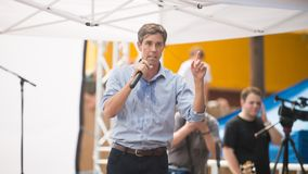 Rourke för Beto nolla-` demokrat Texas Campaigns för senat royaltyfri foto