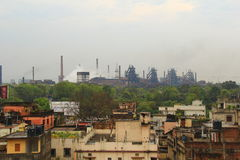 Rourkela. Indian Steel city Rourkela with steel plant in background royalty free stock images