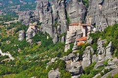 Rousannou Kloster bei Meteora, Griechenland Stockbild