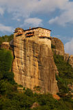 Rousannou Monastery at Meteora, Greece. Founded in the 16th century, the easily-accessible Rousannou Monastery occupies a lower rock than the others of the Royalty Free Stock Photos