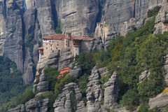 Rousanou Monastery in Meteora Stock Photography