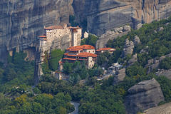 Rousanou Monastery in Meteora Stock Photos