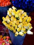 Rouses di colore giallo Fotografia Stock