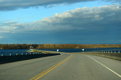Rouses Point Bridge, Upstate New York, USA Royalty Free Stock Photo