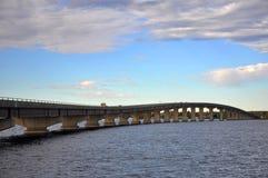 Rouses-Punkt-Brücke, im Hinterland New York, USA Lizenzfreies Stockfoto