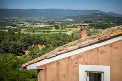 Rousillon,横谷 普罗旺斯 法国 免版税库存照片