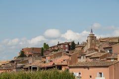 Rousillon,法国看法  免版税图库摄影