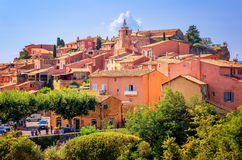 Rousillon, France. One of the most beautiful villages of France (Les Plus Beaux Villages de France) nomination stock image