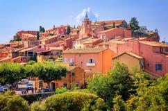 Rousillon, Frankrijk stock afbeelding