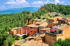 Rousillon, Provence, France. Ochre colored old village Rousillon, Provence, France stock photography