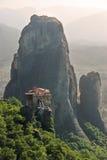 roussanou för rock för greece meteorakloster arkivfoton